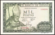 Unc, 1000 Pesetas, 1965 ''s. Isidoro'' Without Serial Letter, Spain. Aunc