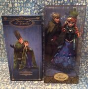 New Disney Anna And Kristoff Fairytale Designer Doll Set Store Limited Le Frozen