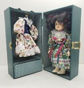 Vintage Lasting Impressions Companion Collection Porcelain Doll And Wardrobe