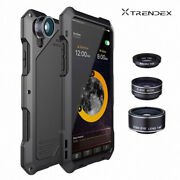 For Apple Iphone Xs Max Xr Waterproof Shockproof Metal Case Cover+3 Camera Lens