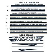 Boat Stripes Boat Decals Striping Tape Complete G-w Hull Stripes Decal Kits