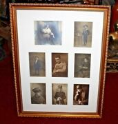 Antique Photographs Young Boy Man Military Uniforms-8 Photos-framed-french