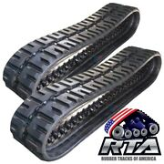 Two Rubber Tracks Fits Cat 279d 400x86x56 C-lugtread 16 Free Shipping