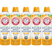 5 Pack Arm And Hammer No White Mess Invisible Spray Powder 7 Ounces Each