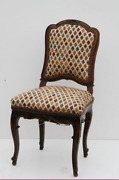 Antique Louis Xv Walnut Carved Chaise Mid 18th Century Chair