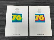 Porsche 911 Carrera 2,7 Rs And 930 Turbo 3.0 1976 Color Charts Paint Sample Rare