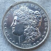 1891-cc Morgan Silver Dollar...might Be Best Available...