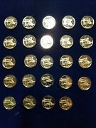 24 Rare Vintage Space Shuttle .999 Silver Mini Art Medals Rounds Challenger