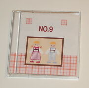 Monogram No. 9 Embroidery Card Fits Baby Lock, Bernina, Brother Sewing Machines