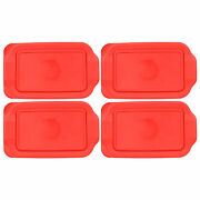 Pyrex 232-pc 13 Red Replacement Storage Lid Cover 4pk For 2qt Glass Dish