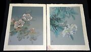 Pair Of 1970s Chinese Floral Prints 2/400 Homage To Hawaii By David Lee Coo