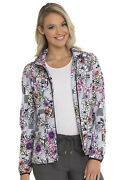 Patterns And Posies Heartsoul Scrubs Zip Front Bomber Jacket Hs301 Pats