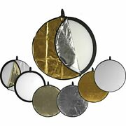 Used Impact 5-in-1 Collapsible Circular Reflector Disc 42 Free S/h