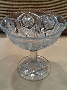 Imperial Glass Mogul Variant Star And File Pedestal Compote 6-1/2t 1911 Vintage
