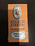 Blue Chip Super-ten Savings Book With 12 Pages Full Of Stampsandnbsp