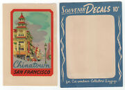 Vintage Meyercord Travel Decal Chinatown San Francisco - Airstream Woody Hot Rod