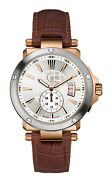 Guess Gc-1 Sweep X65007g1s Menand039s Watch - Stainless Steel Casing Brown Bracelet