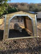 8x8 Arch Mobile Shelter Apex Roof Comes With Skids And Kick Boards