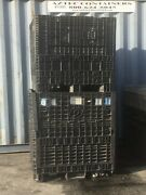Used Plastic Pallet 45x48x42 Containers Gaylord Shipping Bins W/ 2 Drop Doors