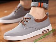 New Fashion Menand039s Casual Shoes Board Lace Up Korean Sport Collegiate Shoes Size