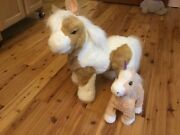 Furreal Friends Baby Butterscotch Show Pony, And Small Butterscotch Walking Pony