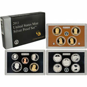 2011 Silver Proof Set Us Mint 14 Coin Cp3541
