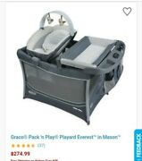 Graco Pack N Play Little Hoot Theme Grey With Removable Bassinet