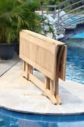 7-piece Outdoor Teak Dining Set 69 Console/fold Table 6 Armless Chairs Devon