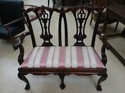 Antique Chippendale Bench Sofa Settee Ball And Claw 2 Seater Loveseat