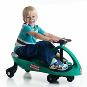 Easy Swivel Twister Car Green Zigzag Wiggle Ride On Car Roller Coaster Style