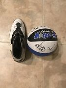 Shaquille O'neal Autographed Nba All Star Exclusive Shoe And Ball. Orlando Magic