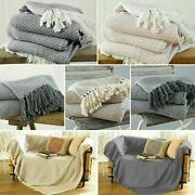 Large And Xl Cotton Traditional Como Safi Blanket Home Chair / Sofa / Bed Throws
