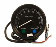 Vintage Style Led Tachometer 41 Ratio Mechanical Drive Black Body And Face Plate