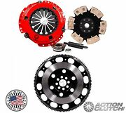 Action Clutch Stage 4+light Flywheel For 04-08 Tsx 03-07 Honda Accord 02-06 Rsx