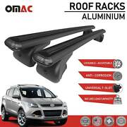 Roof Rack Cross Bars Luggage Carrier Black Set Fits Ford Escape 2013-2019