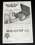 1910 Old Magazine Print Ad, Keen Kutter Safety Razor, Open The Case And Shave
