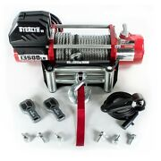 Electric Winch 13500lb Stealth 12v Steel Rope Wireless Recovery 4x4 Uk Stock