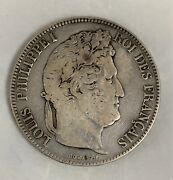 1834 A 5 Francs Silver Coin Km749.11