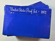 Ten 1972-s United States Mint Proof Set Lot In Original Government Packaging