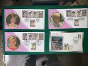Large Collection Of Princess Diana Stamps And Coins