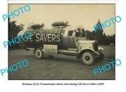 Old 6x4 Photo Life Savers Advertising Truck C1930