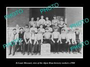 Old Large Historic Photo Of St Louis Missouri Alpen Brau Brewery Aorkers C1900
