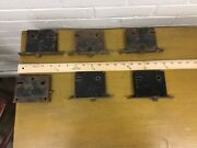 Lot Of 6 Antique Vintage Mortise Locks One May Be For A Pocket Door