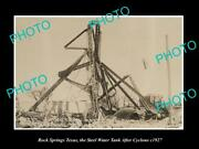 Old Large Historic Photo Of Rock Springs Texas The Water Tank After Cyclone 1927