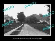 Old Large Historic Photo Of Jacksonville Vermont View Of Main Street C1910