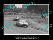 Old Large Historic Photo Of Bob Murrell And His Siata 208cs Race Car G/g 1954 2