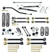 Currie Johnny Joint 4 Lift Suspension Kit,sway Bar,double Adj Upper Arms,97-06