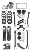 Currie Johnny Joint 4 Lift Suspension Kit,upper Arms,coil Springs,07-18 Jk 2d
