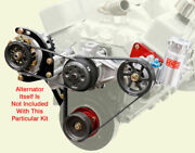 Sbc Serpentine Pulley Kit W/ Pumps And Delco Setup15head Mount Power Steering