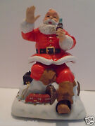 1994 Melody In Motion Musical Santa Claus And Train Japan Coke Coca Cola